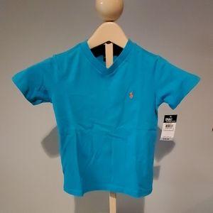 NWT boy's Ralph Lauren V-neck t-shirt size 5